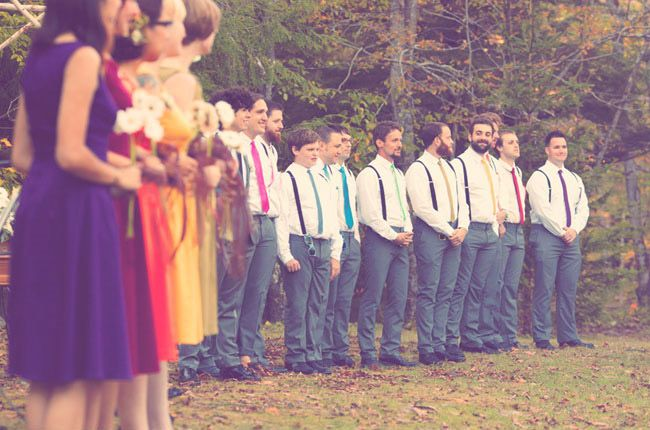 Rainbow wedding!