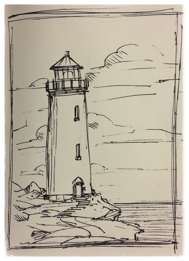 29 #lighthouse #ink #scene #scenery #sketch #layout #doodle #drawing #art #artist #mikephillipsart #landscape #rough #creative #gallery