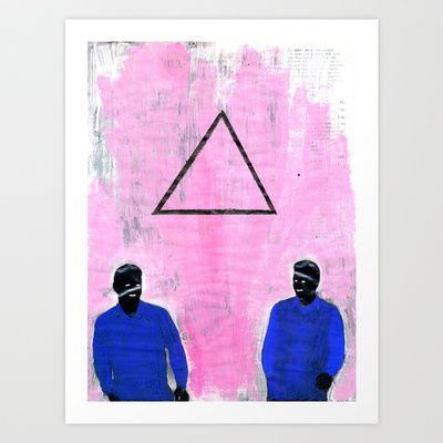 Trekant Art Print by Plasmodi - $21.00