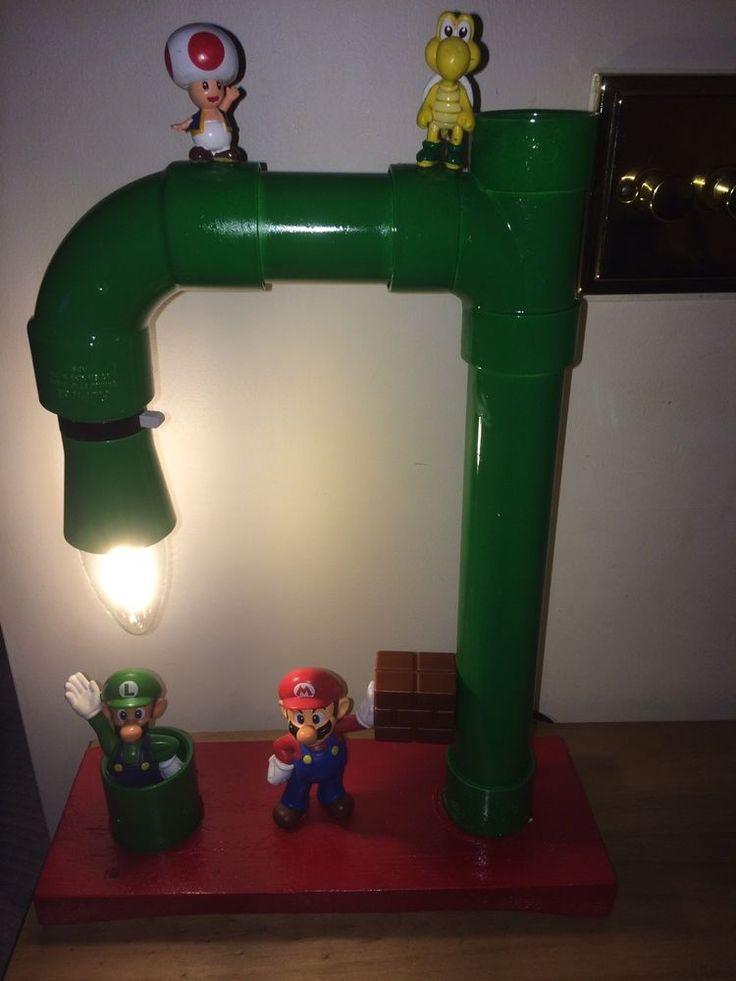 Super Mario Lamp, SNEZ, Nintendo, upcyle, Retro, Christmas, Games Room.  | eBay