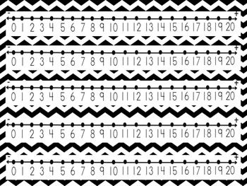 FREE Chevron Number Line 0-20