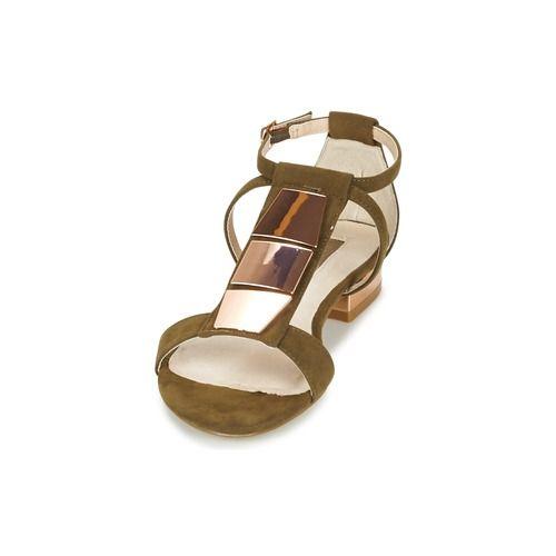 Lollipops ZOPUR FLAT SANDAL Kaki - Chaussure pas cher avec Shoes.fr ! - Chaussures Sandale Femme 78,99 €