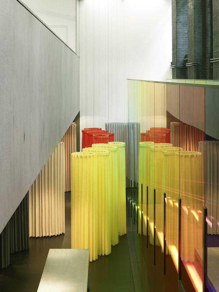 The Pilotis installation in Kvadrat's London showroom