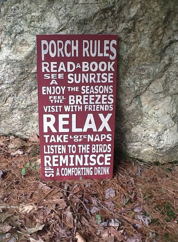 Porch Rules Vintage Style Typography Word Art by meddlingtwigs, $37.95