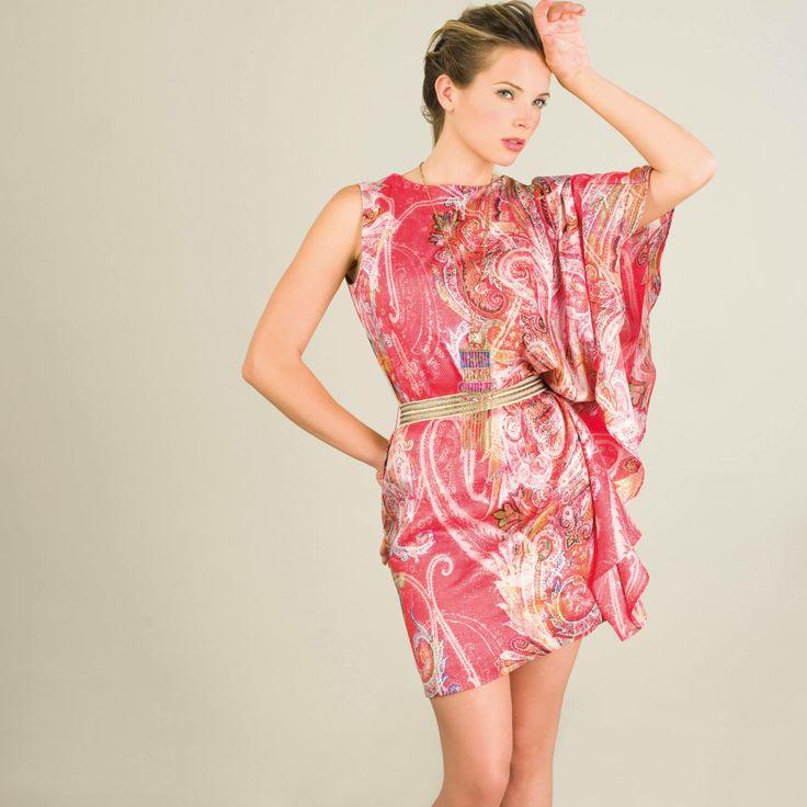 """Ofrecemos hoy un vestido """"tipo pañuelo"""" con un estampado maravilloso, de la linea BBC (Bodas, Bautizos, Comuniones), muy fácil de llevar... Nuribel Sport"""