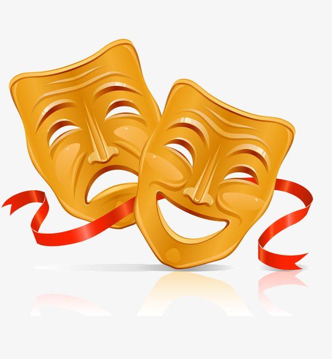 Zolotoj Smajlik I Maski Dlya Lica Vektornyj Material Zolotoj Vektor Smajlik Vektor Vektor Png I Vektor Png Dlya Besplatnoj Zagruzki Comedy Tragedy Masks Mask Theatre Masks