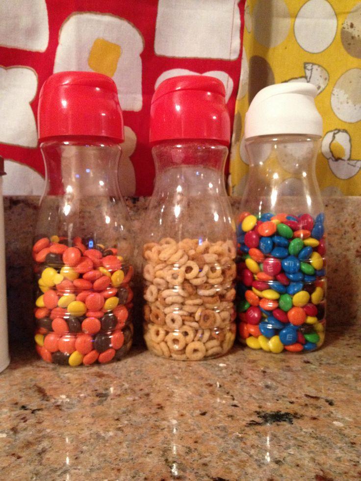Reuse coffeemate creamer bottles m&ms reesepieces snacks