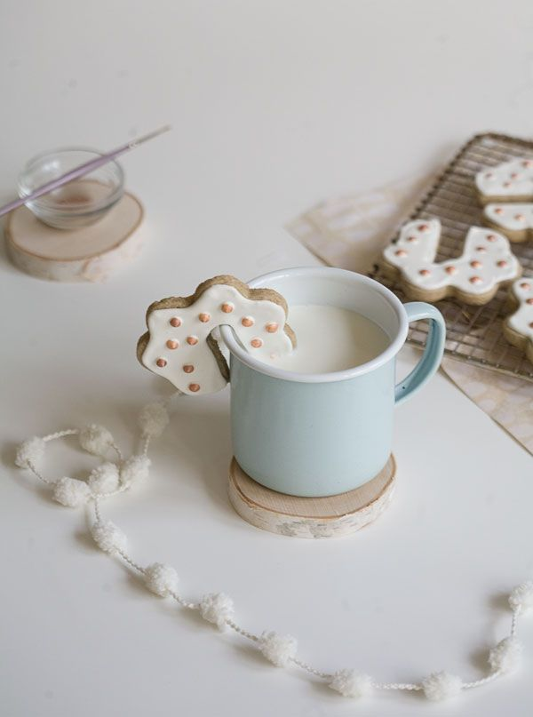 These sugar cookies are made with rye flour.