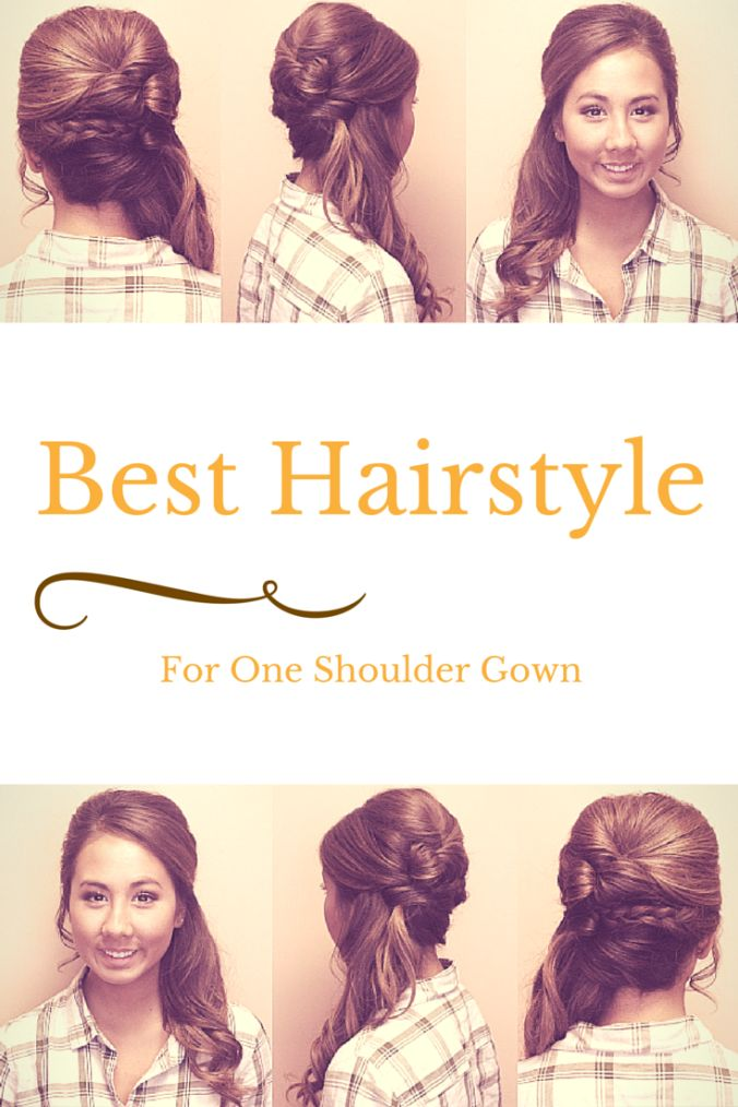 How To Choose Best Hairstyle For A One Shoulder Gown or Dress.. Great for Brides, Bridesmaids, or Prom Girls! #LHM