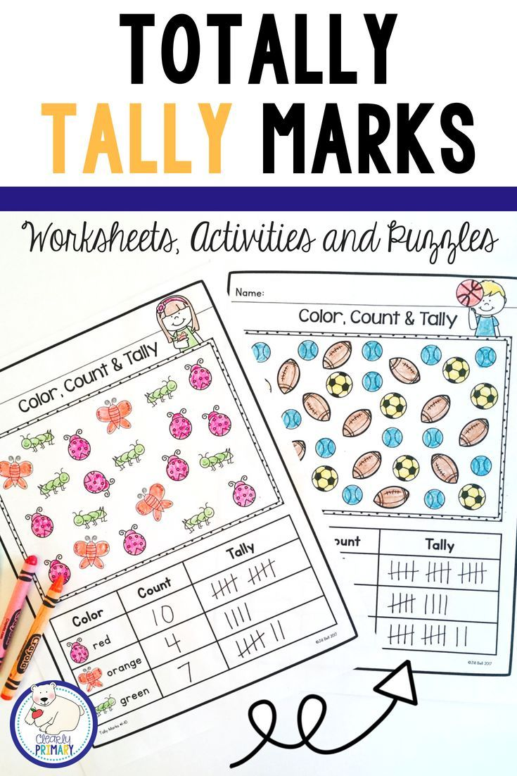 Tally Marks Worksheets Activities Puzzles Tally Marks Kindergarten Kindergarten Math Activities Tally Marks