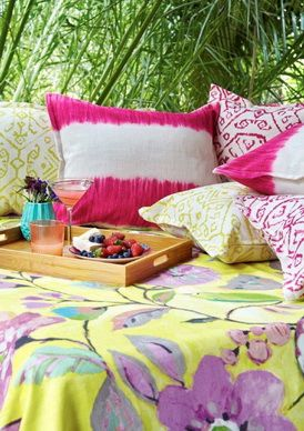 Hertex: Tangier & Marrakesh. Scatter cushions for bedrooms Available in a range of bright colours (Washable, High light fastness)