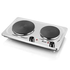Swan SBR204 Double Electric Hob Swan SBR203 Double Electric Hob Stylish stainless steel hob with 1500 and 1000 Watt energy rating. Double hot plates with variable heat control, ideal for cooking at campsites/caravans or even if you  http://www.MightGet.com/february-2017-2/swan-sbr204-double-electric-hob.asp
