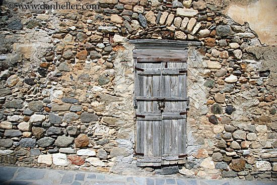 Old wood door in stone wall--Dan Heller: Stones Cottages, Wall Wood, Old Wood Doors In Stones Wal, Stones Wall, Stones Wood, Old Wooden Doors