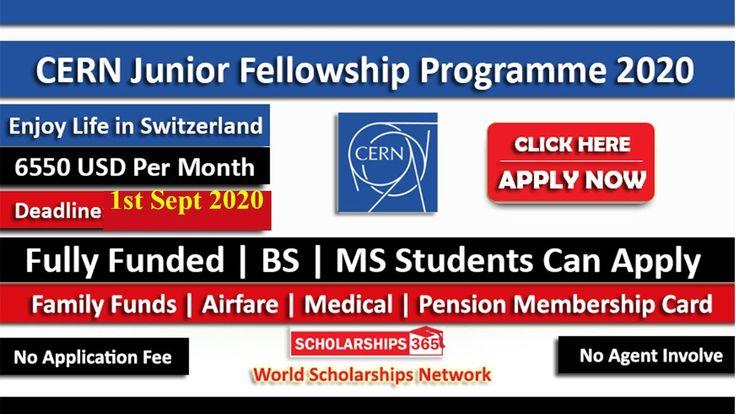 CERN Junior Fellowship 2021 in Geneva, Switzerland (Fully ...
