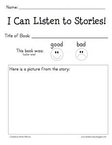mp3 Listening Center and Reading Response Form - FREEBIE! - Kinder Craze