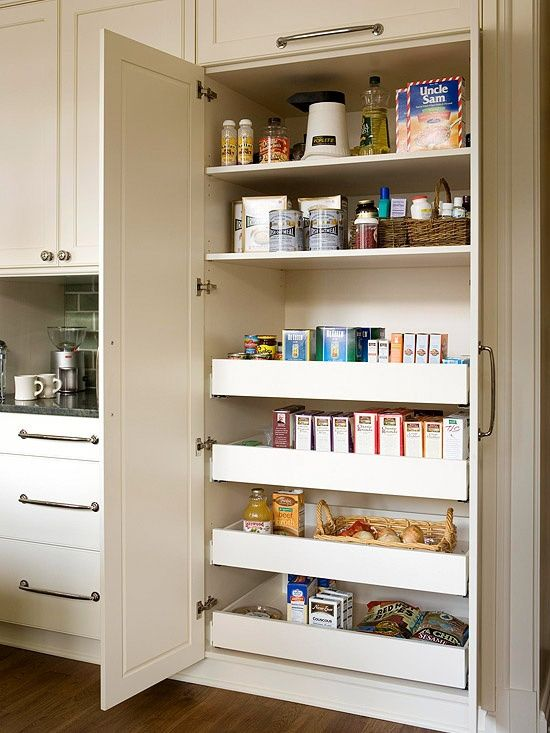 pantry closet we talked about... another good place for rollout drawers! Sam! Don! :)