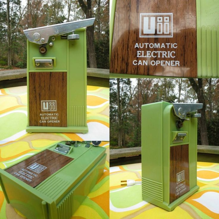 VTG 70s MID Century Modern Brady Bunch Retro Avocado Green Electric Can Opener
