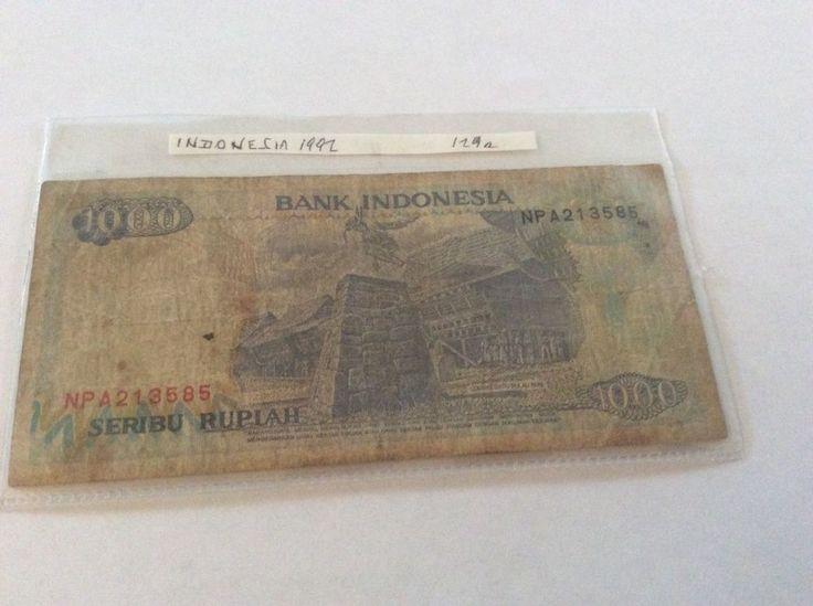 Indonesia 1000 Rupiah Banknote Serial Number NP A213585 Date 1992 Initial NPA