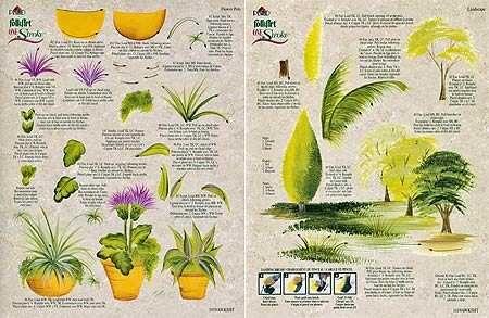 Dewberry Donna Free Pattern Folk Art | Set 6 FolkArt One Stroke Teaching Guide - Outdoor Elements