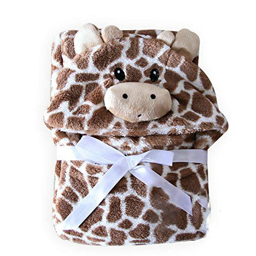 Hooded Baby Blanket - Baby Towel - Giraffe - Soft - Cuddly - Babies - Newborns - Infants - Kids - Crib - Bedding - Nursery - Soft - Absorbent - For Baby's Sensitive Skin - Cute with Animal Hood - Easy Care - Machine Wash and Dry Cassandra Dee http://www.amazon.ca/dp/B0172A1RT8/ref=cm_sw_r_pi_dp_7VzPwb1YX7R10