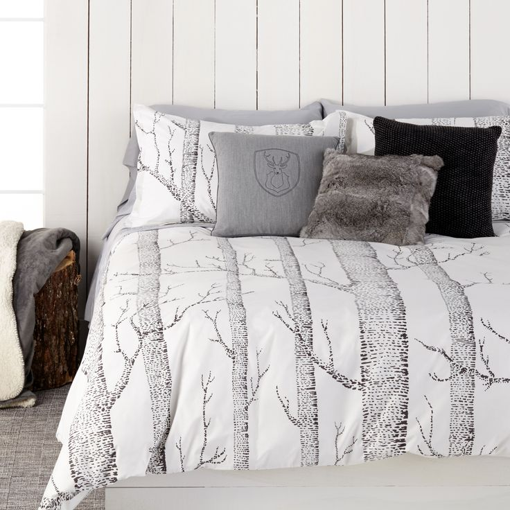 Nordic Forest Duvet Cover Set Home Decor Duvet Cover Sets Farmhouse Bedroom Set Duvet Bedding