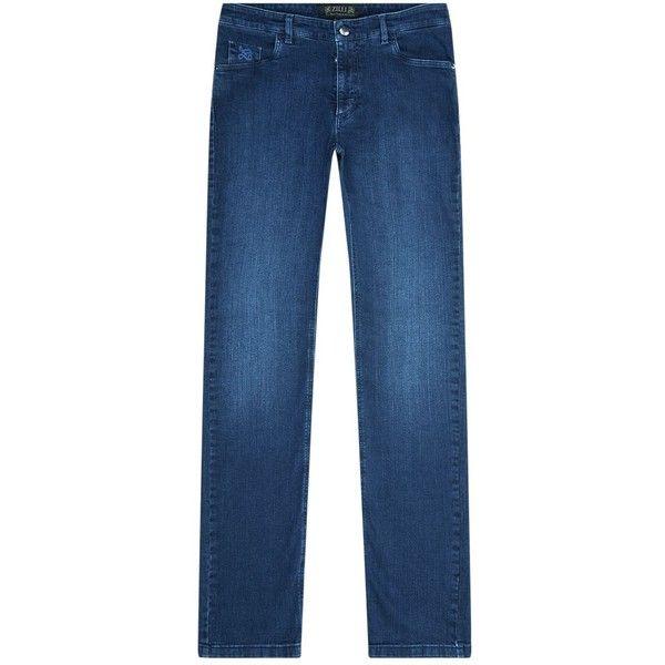 Zilli Slim Fit Alligator Skin Badge Jeans (23,500 MXN) ❤ liked on Polyvore featuring men's fashion, men's clothing, men's jeans, mens slim fit jeans, mens slim jeans, mens leather jeans and mens slim cut jeans