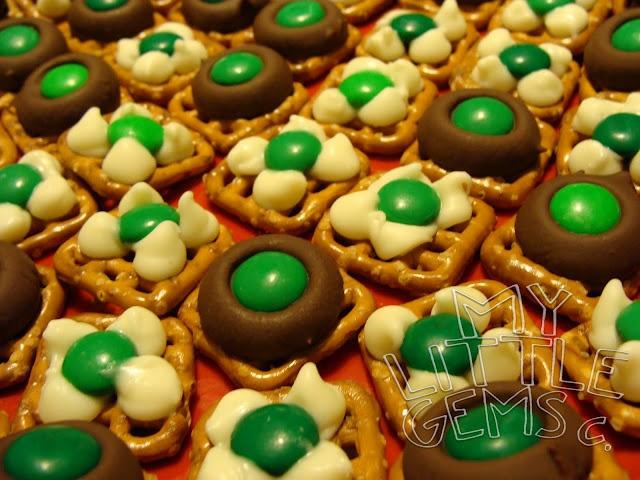 Lucky Irish Kisses ~ Chocolate Pretzels