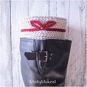 Ravelry: Little Bow Boot Cuffs pattern by Misty Makes