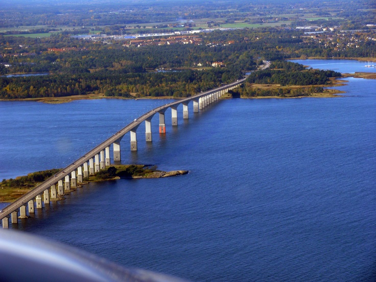 There's a bridge from the Swedeish mainland to the island of Öland in the Baltic Sea. The bridge is 6 kilometres long. That's over 3700 miles.