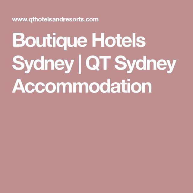 Boutique Hotels Sydney | QT Sydney Accommodation