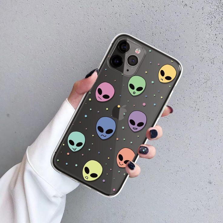 Aesthetic pastel alien phone case for iphone 12 11 pro xr