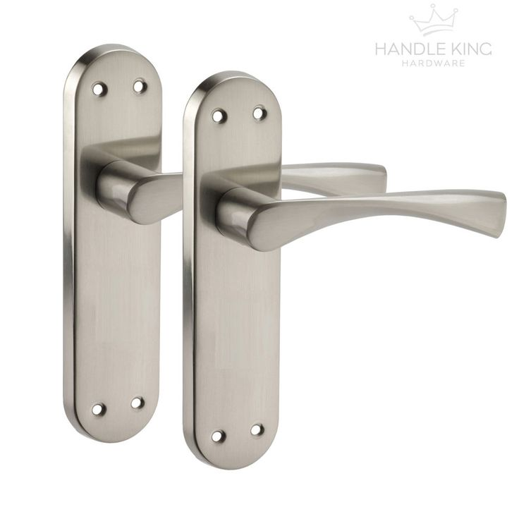 Winged Internal Chrome Door Handles on Backplate - Brushed Chrome Finish