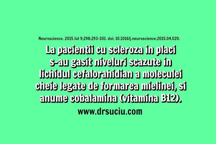 Photo Deficit de vitamina B12 in caz de scleroza in placi - drsuciu