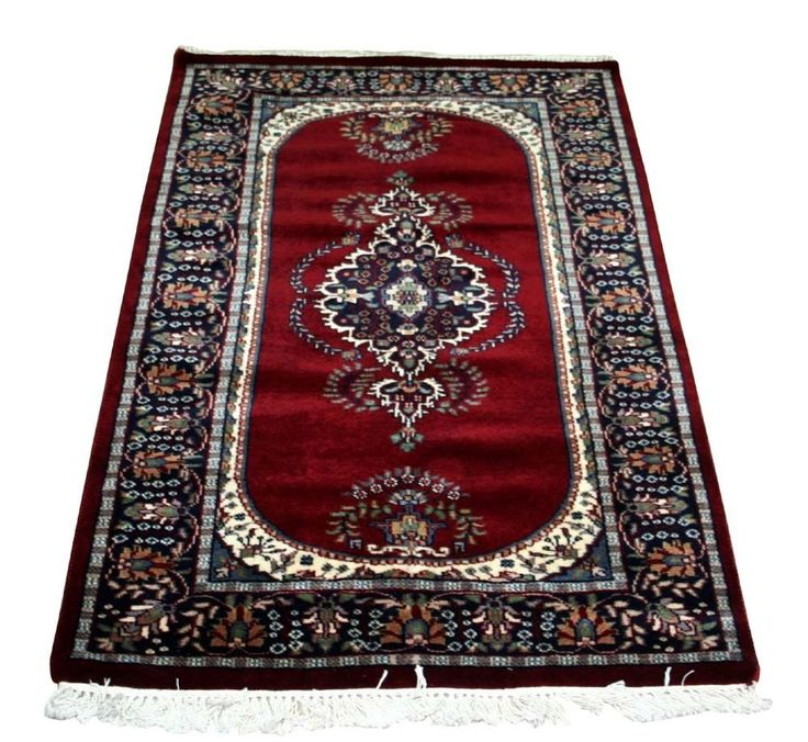 "RARE CASHMERE WOOL 36""x60"" ANTIQUE OLD VINTAGE PERSIAN 100% Wool Carpet,RUGS EDH #Indian"