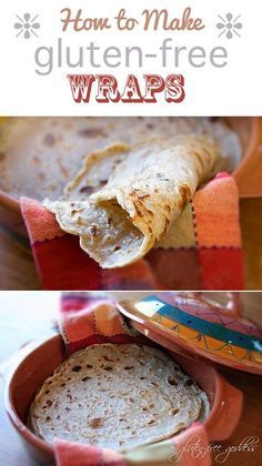 Karina's lovely gluten-free wrap recipe. Makes a beautiful soft tortilla. How to do it.