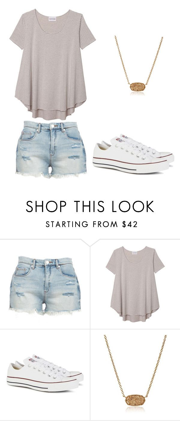 """""""Summer teen outfit"""" by jillianmoreland ❤ liked on Polyvore featuring BLANKNYC, Olive + Oak, Converse and Kendra Scott"""
