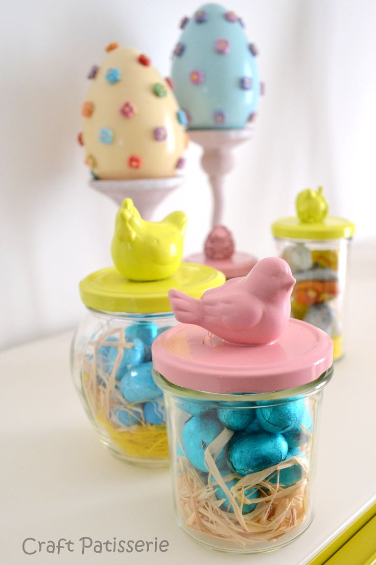 240 best easter images on pinterest decorating ideas crafts and easter diy gift reuse jars and easter animal toys spray painted negle Image collections