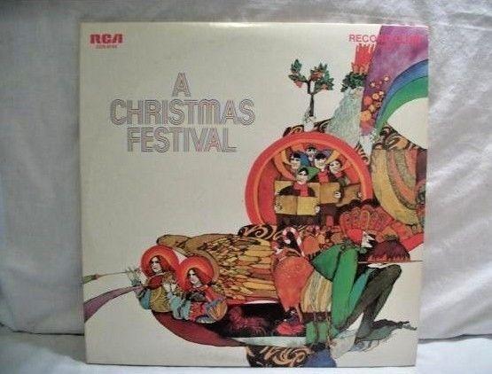 Record Album A Christmas Festival RCA Record Club Vinyl LP Christmas Carols Band