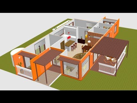 20 best images about casas alternativas on pinterest for Planos de casas 3d