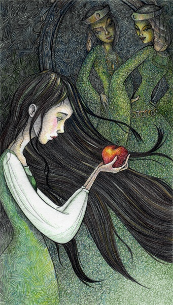 #SnowWhite #FairyTale Art Print By Manelle Oliphant 8.5x11 #print $20.00