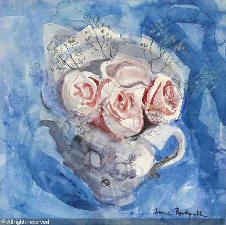 REDPATH Anne - STILL LIFE OF ROSES IN A TEAPOT