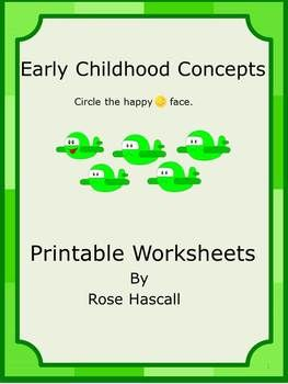 online fashion shop Early Childhood Concepts Printable Worksheets This is a set of 24 worksheets designed to help teach students the following basic concepts