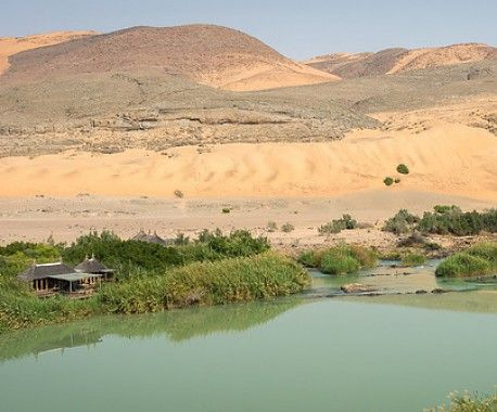Camp view on the Kunene River