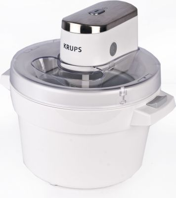 Krups Ice Cream Maker (White and Silver)  Ice cream making has never been so easy!