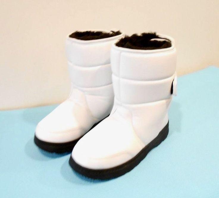 Women's Khombu Lunar White Snow Boots Faux Fur Lined  Size 8.5 #Khombu #SnowWinter