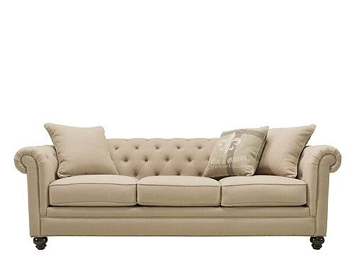 This Howell sofa will be an instant classic in your living room. Neatly tailored and so refined, its beautiful design offers enough flexibility to complement a variety of color and decorating schemes. Plus, you'll love the sophisticated, traditional touches, like button tufting, pleated roll arms and bun feet.