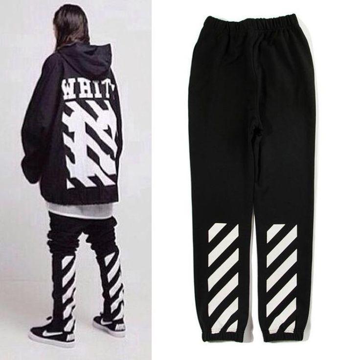 Unisex Cotton PYREX Off White C/O Virgil Abloh Casual Gym Sport Pants Pant #OFFWHITE #LongPants