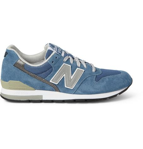 New Balance 996 Nubuck and Mesh Sneakers                 | MR PORTER