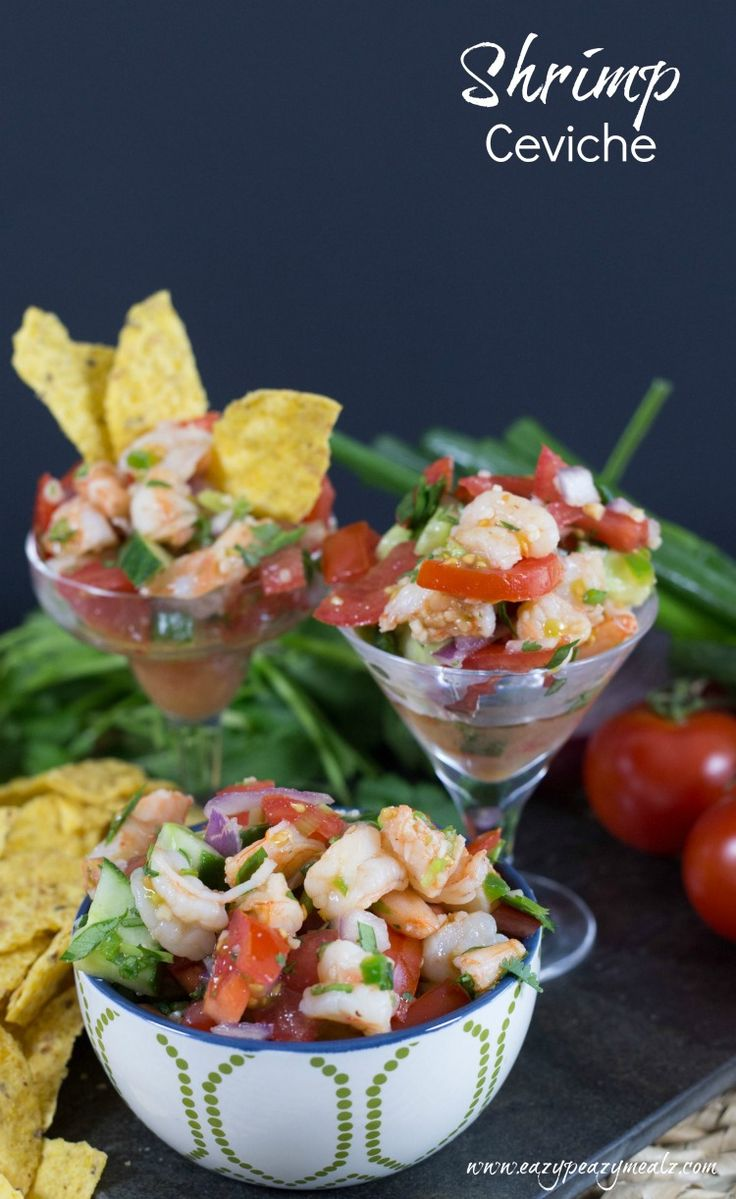 My husband's favorite food! This Shrimp Ceviche is easy to make and tastes awesome! Try it! Actually shrimp salad.