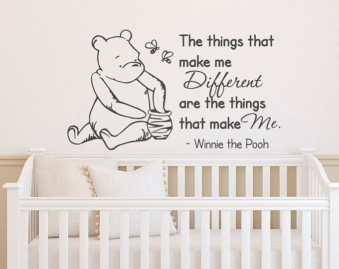 Winnie The Pooh Wall Decal Quote The Things That Make Me Different  Classic  Winnie The Pooh Quotes Nursery Kids Baby Room Home Decor 027 Part 54